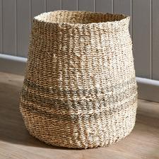 Lennox 45cm Seagrass & Palm Leaf Basket