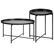 Maximus Steel Coffee & Side Table Set