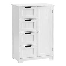 White Pavlo Tallboy Storage Cabinet
