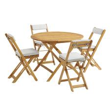 4 Seater Cordoba Acacia Wood Outdoor Bistro Set