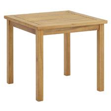 Natural Santa Cruz Acacia Wood Outdoor Side Table