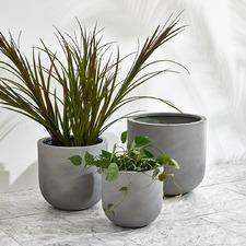 Grey Mahalo Outdoor Fibrestone Planter