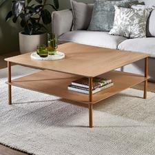 Natural Banjo 100cm Square Coffee Table