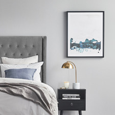 Teal Kennedy Framed Printed Wall Art
