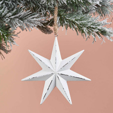 White Star Hanging Ornaments (Set of 6)