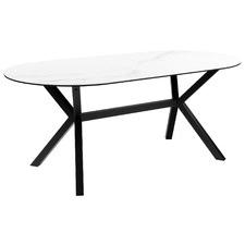 White Umbria Oval Ceramic Dining Table