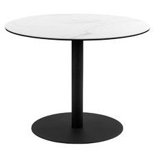 White Umbria Round Ceramic Dining Table