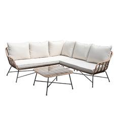 5 Seater Comino PE Rattan Outdoor Lounge Set