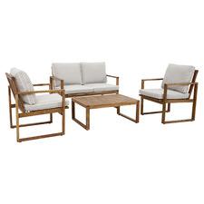 4 Seater Terrace Acacia Wood Outdoor Lounge Set