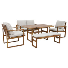 6 Seater Terrace Acacia Wood Outdoor Dining Set
