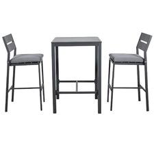 2 Seater Kos Aluminium Outdoor Bar Table Set