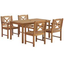 4 Seater Santa Cruz Acacia Outdoor Dining Set