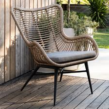 Rovello PE Rattan & Aluminium Outdoor Occasional Chair
