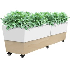 3 Piece Mobile Self Watering Cafe Planter