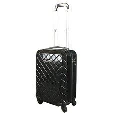 Black Check Carry On Suitcase