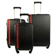 Red 3 Piece Jetsetter luggage Set