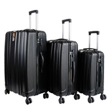 Black 3 Piece Knight Luggage Set
