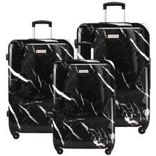 3 Piece Marble Hard Shell Luggage Set