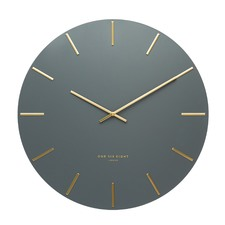 Charcoal Luca Silent Wall Clock