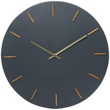 50cm Charcoal Ivy Wall Clock