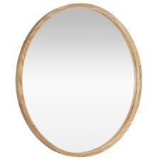 Leo 60cm Round Wooden Mirror