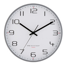 Cool Grey Carmen Metal Wall Clock