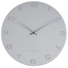 Light Grey Bianca Metal Wall Clock