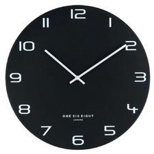 Black Nero Metal Wall Clock