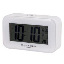 White Rectangular Digital Alarm Clock