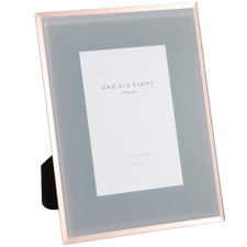 Grey & Rose Gold Minerva Glass Photo Frame
