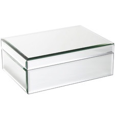 Large Florence Glass Jewellery Box