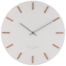35cm Cool Grey Ivy Silent Wall Clock
