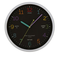Black 30cm Learn The Time Wall Clock