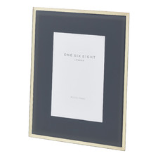 Grey & Gold Minerva Glass Photo Frame