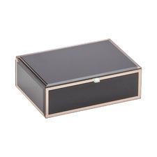 Black Sara Medium Glass Jewellery Box