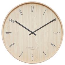 Light Timber Ester Silent Wall Clock