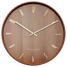 Dark Timber George Silent Wall Clock