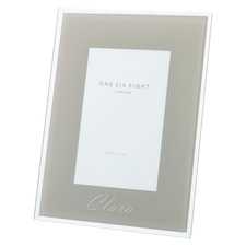Cool Grey Minerva Personalised Glass Photo Frame