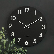 Black Jackson Silent Wall Clock