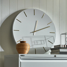 White Luca Silent Wall Clock