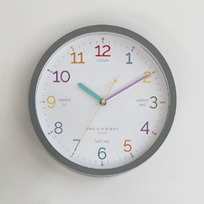 30cm Learn The Time Silent Wall Clock