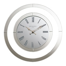 50cm Hamptons Glass Wall Clock