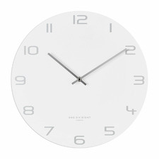 White Bianca Metal Wall Clock