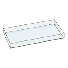 Silver Glass Jewellery Box