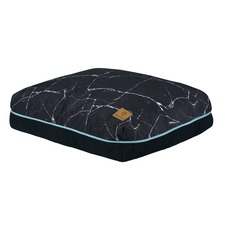 Black Marble Rectangular Pet Pad