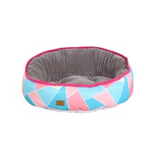 Bright Triangle Reversible Oval Pet Bed