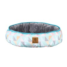 Triangle Reversible Oval Pet Bed