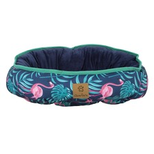 Pink Flamingos Reversible Oval Pet Bed