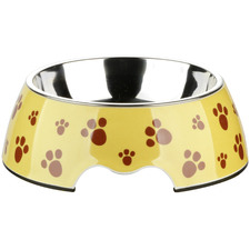 2 Piece Yellow Stainless Steel Pet Bowl