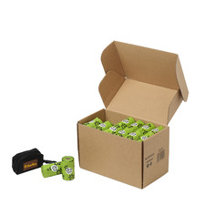 960 Piece Compostable Waste Bags with Dispenser Set
